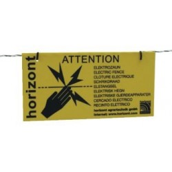 International warning sign Caution electric fence