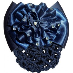 Flower hairclip with hairnet
