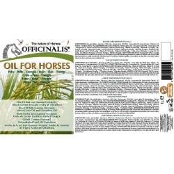 Pienso complementario Officinalis® Oil for Horses/Aceite para caballos