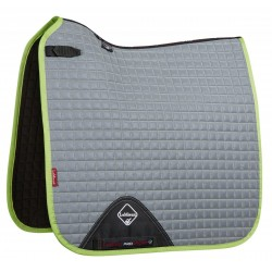 High Visibility Dressage Square Saddle Pad Lime