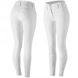 Pantalon silicona antideslizante Horze Daniela mujer Blanco