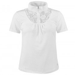 Horze Women's Lace-Detail Technical Show Shirt White