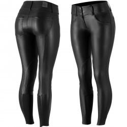 Pantalon à basanes en cuir PU Horze femme