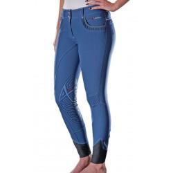 Pantalón My LeMieux Bascule - mujer Azul hielo / gris oscuro