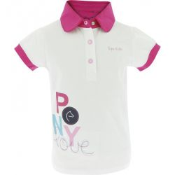 EQUI-KIDS Pony Love Polo-Shirt - Girls White