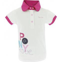 Polo Pony Love Equi-Kids Fille Blanc