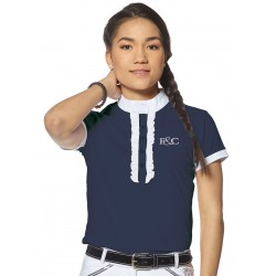 Riding polos Cacimba - Short sleeves navy blue / white