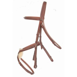 T de T Michel Robert Luxus Bridle 8-figure Noseband Havana brown