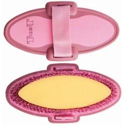 Cepillo con esponja bicolor T de T Burdeos / rosa