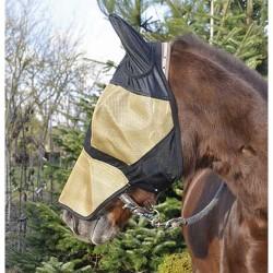 T de T Full Face Fly Mask Black / golden
