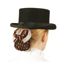 HAIR CLIP WITH CROCHETED HAIR NET