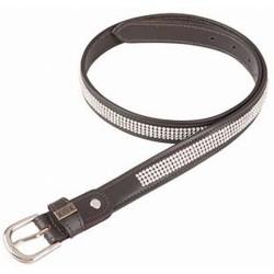 Cintura strass T de T Havana oscuro / blanco