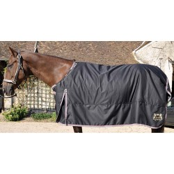 T de T Stretch Neck® Outdoor Rug 150gsm Black / grey