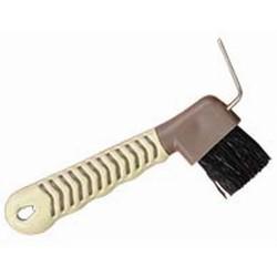 Bitz Limpiacascos con cepillo para caballos