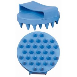 T de T Rubber Massage Groomer Light blue