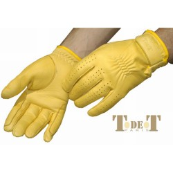 T de T Us Leather Gloves Golden colour