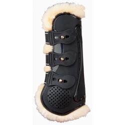T de T Proteck' Compet Tendon Boots Fur Lining Black / black