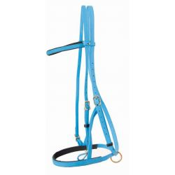 Biotack bridle halter Light blue