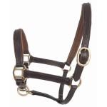 T de T Foal Leather Halter Dark brown