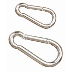 T de T Karabiners Snaps Nickel plated steel
