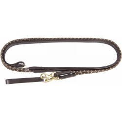 T de T german Draw Reins Seal brown