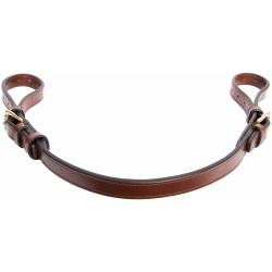 T de T Stirrups Leather Link Straps Dark havana brown