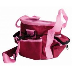 T de T Small Grooming Bag Bordeaux / pink