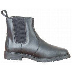 T de T First leather Jodhpur boots Black