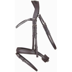 T de T Hopper anatomic bridle Brown / silver