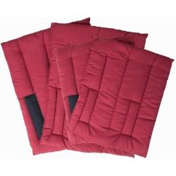 T de T cotton pads for Stable Boots Burgundy
