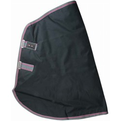 Cubrecuello impermeable poly-algodón T de T Negro / Gris