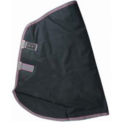 T de T rain neck cover with polycotton Black / grey
