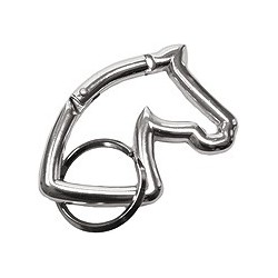Head horse silhouette key ring