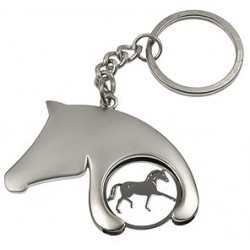 Horse head trolley coin/key ring