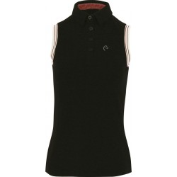 Equi-Theme Piqué polo shirt, sleeveless Black
