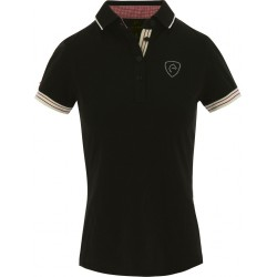 Equi-Theme Jersey polo shirt, short sleeves Black