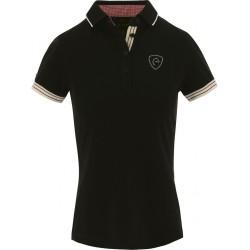 Polo jersey femme Equi-Theme manches courtes Noir