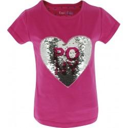 T-Shirt Magique Pony Love Equi-Kids fille Rose