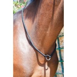 Collier d'encolure corde avec anneau T de T Noir / gris