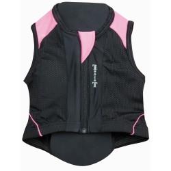 T de T Back Protection Vest black / fuchsia