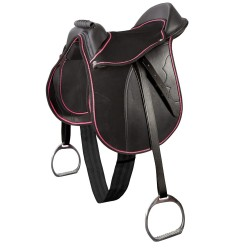 SELLE PONEY EQUIPEE, SANGLE ET ETRIERS