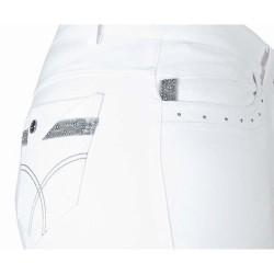 Pantalón Florence strass T de T - mujer Blanco