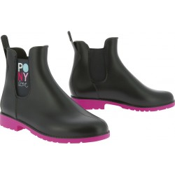 Equi-Kids Pony Love Synthetic boots navy blue / fuchsia