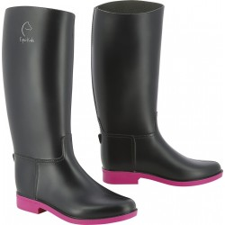 Equi-Kids Synthetic boots Navy / fuchsia