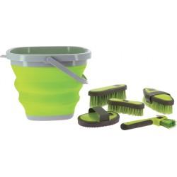 HIPPOTONIC Flexible bucket set and accessories Neon yellow