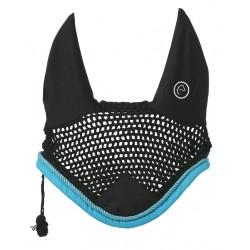 Equi-Theme New Challenge fly hood Black / turquoise