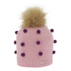 Equi-Kids Knitted bobble hat Pink