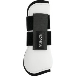 Norton fetlock and tendon boots White / black