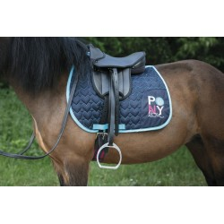 Equi-Kids Ponylove saddle padd Navy blue / turquoise