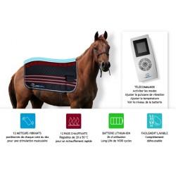 E.Ziback Pro couverture de massage vibrant et chauffant pour chevaux